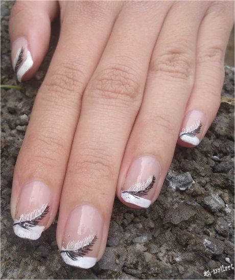 17 Best Ideas About French Nail Art On Pinterest