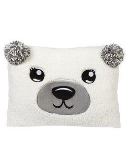 Cozy Fleece Polar Bear Pillow from justice