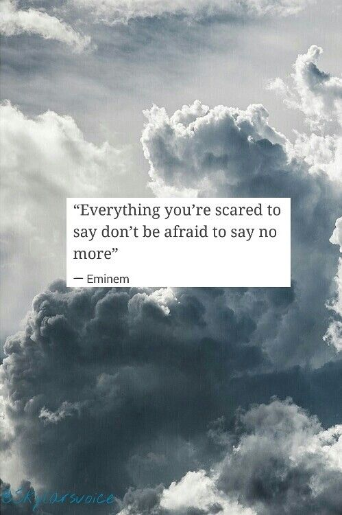 "Eminem quote from ""Guts Over Fear"""