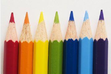 Kaartenbak kleurpotlood - leermiddelenbak