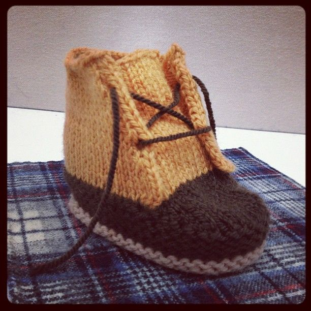 """These are the kind of baby gifts made by folks on the Signature team: Bean Booties by our design assistant Meagan."" llbeansignature"