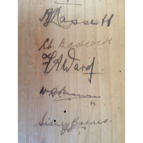 Don Bradman signed cricket bat