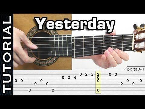 CLASE: Como tocar YESTERDAY en Fingerpicking GUITARRA CLASE COMPLETA! GUITAR - YouTube