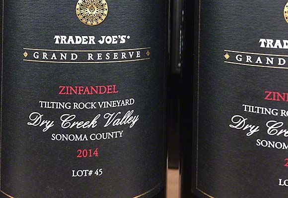 We tasted the 2014 Trader Joe's Grand Reserve Zinfandel Turtle Rock Vineyard, Dry Creek Valley after two hours of decanting time. This Zinfandel has a vivid red color with rich blackberry and cherry flavors. It also has a healthy alcohol content of 15%. While a bit on the ripe side this wine still has grace and long flavors of classic Dry Creek Zinfandel. It is big and bold but drinks wonderfully. The price of $12.99 represents a very good value in quality Zinfandel. via @winetravelers