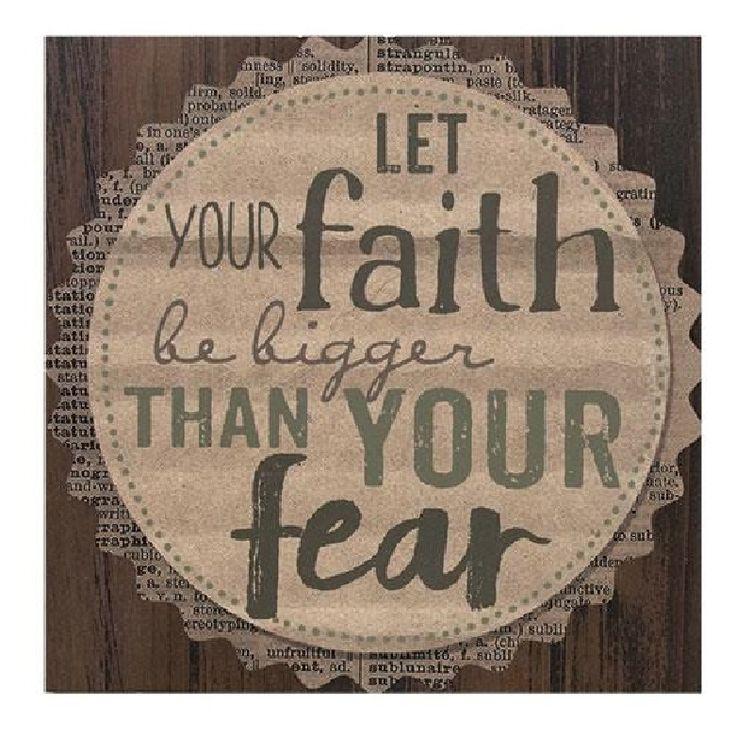 Let Your Faith Inspirational Wooden Word Sign #wordart #inspirational #walldecor