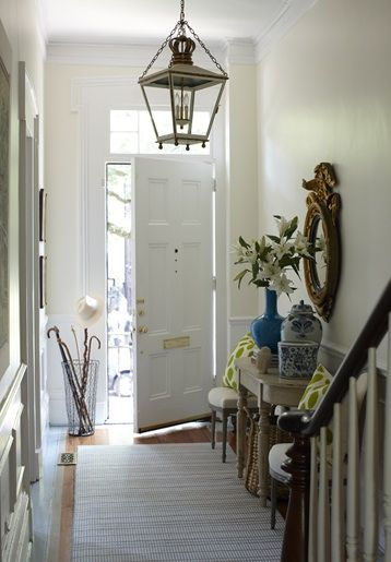 Foyer Ideas For Townhouse : Entrances foyers townhouse iron lantern wire umbrella
