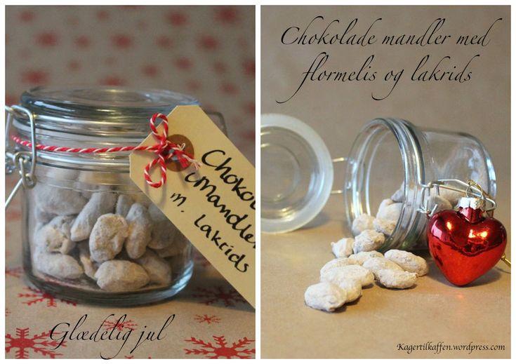 Chokolade mandler med lakrids | Kager til kaffen