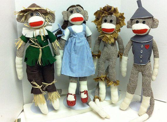 #WizardofOzSockMonkey Sock Monkey in Wizard of Oz Cowardly Lion Costume by PamelasPlumes