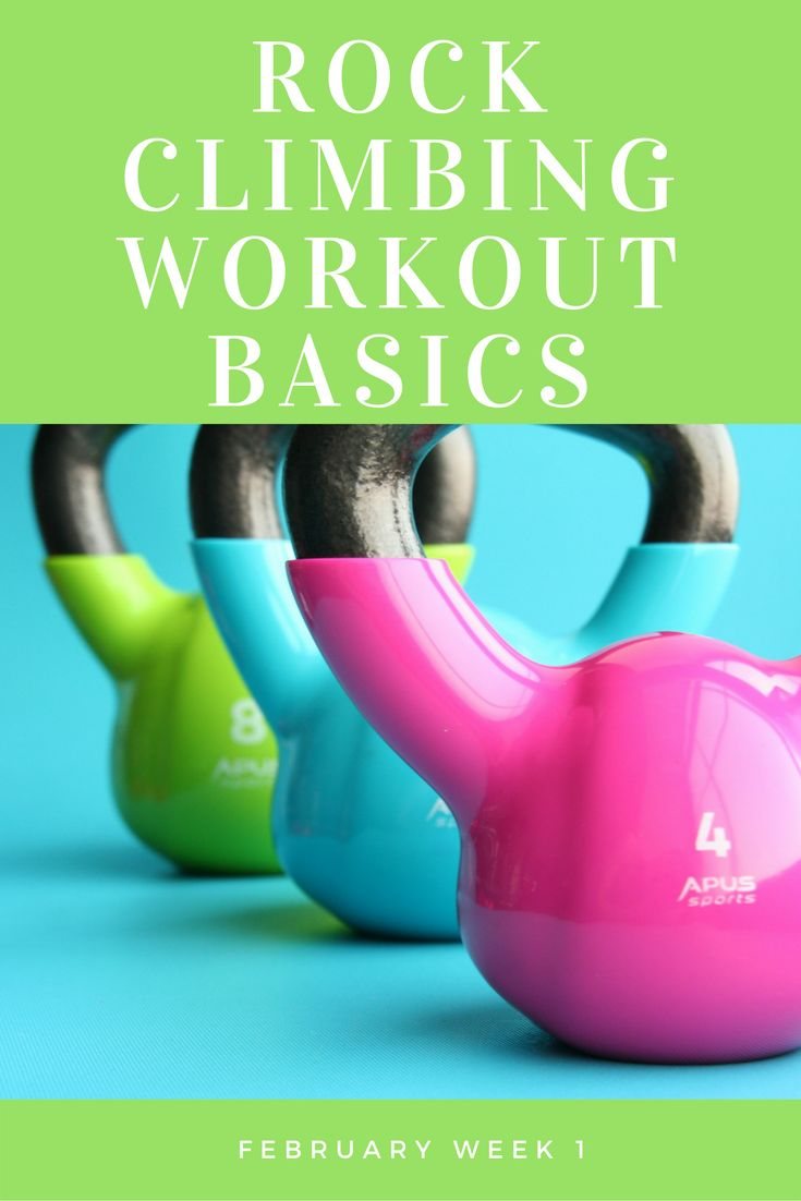 Rock Climbing Workout Basics: February Week 1 workout plan; beginners training guide for using yoga, kettlebells, and rock climbing to get into shape. Great ab workout!