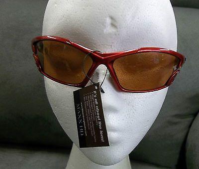 Maxx Sunglasses Cobra Red Frame HD Amber Lenses