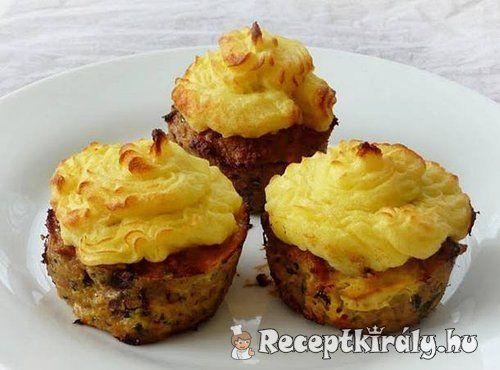 Fasírt muffin krumplipürével