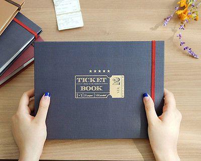 Classy Ticket Stub Diary Ticket Book Organizer Scrapbooking Photo Album Book