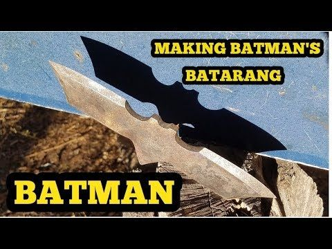 Forging Batman's Batarang - Making A Real Batarang