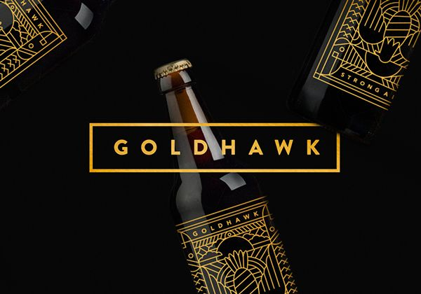 Goldhawk Ale Brand Identity & Package Design by Don't Try Studio