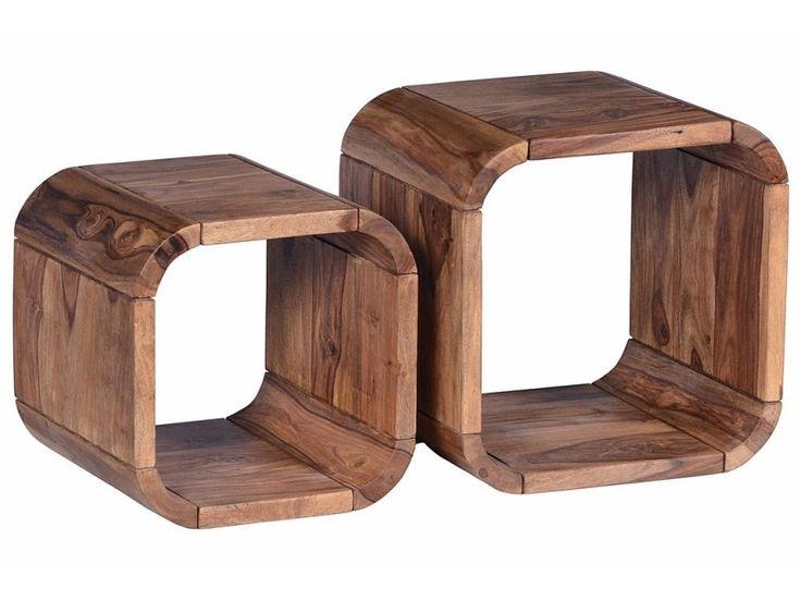 Tables gigognes - kanpur - l 43 x l 36 x h 43 - neuf - Vente de TOUSMESMEUBLES - Conforama