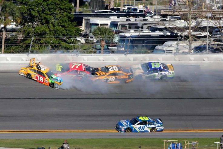 nascar crash on purpose