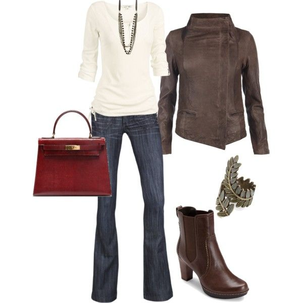 Outfit: Tall Boots, Style, Clothes Outfits, Clothing Repurpo, Red Purses, Fall Outfits, Winter Outfits, Leather Jackets, Classy Outfits