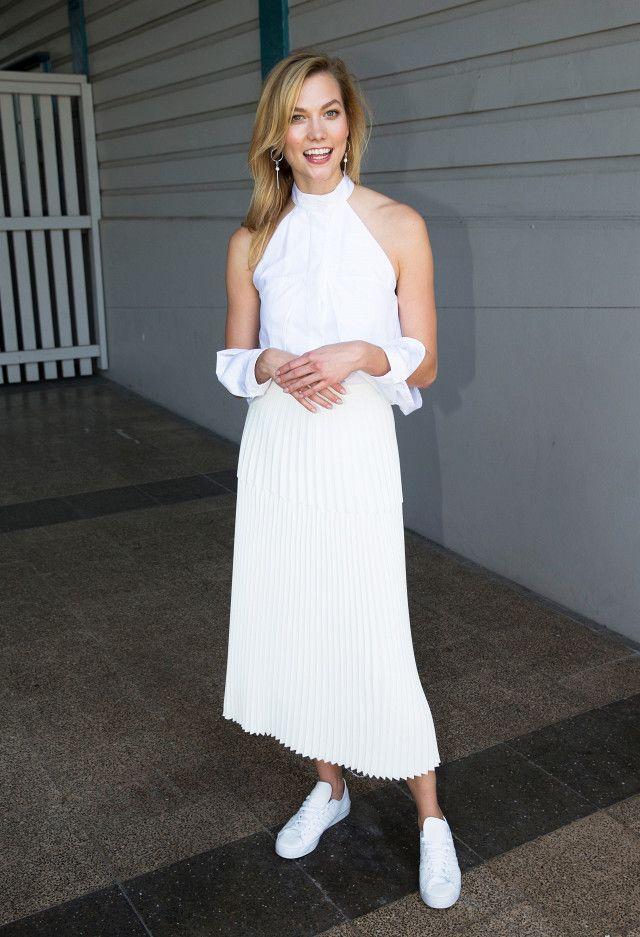 Karlie Klos Dion lee Top White Dressing