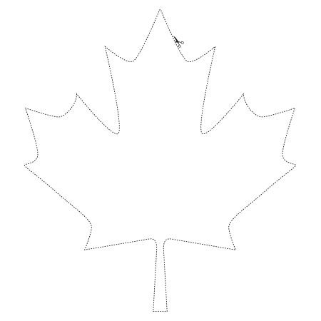 Illuminated globe sketches and templets maple leaf template art leaf template - Feuille erable dessin ...