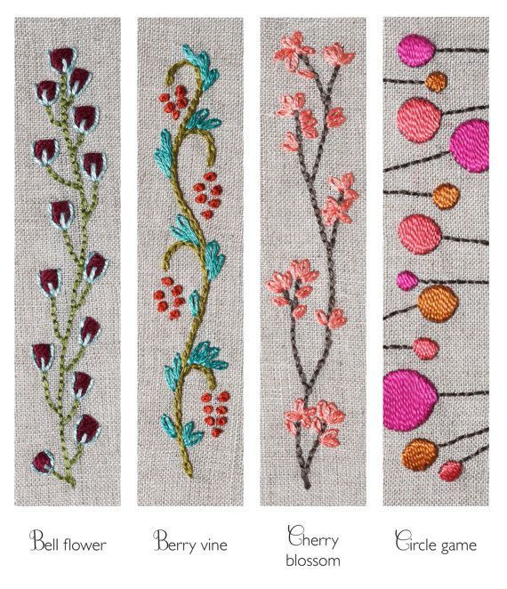 threadfollower embroidered barrette kit in our berry vine design. It includes al…