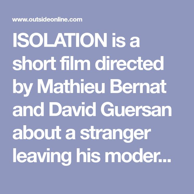 ISOLATION is a short film directed by Mathieu Bernat and David Guersan about a stranger leaving his modern lifestyle for a spiritual journey through incredible Scottish landscapes. Throughout the film, the stranger works to uncover the meaning of solitude and isolation. Bernat and Guersan, the duo behind Unfazed, shot the piece while traveling for two weeks in a leaky van through remote parts of Scotland. You can follow Unfazed on Facebook here.