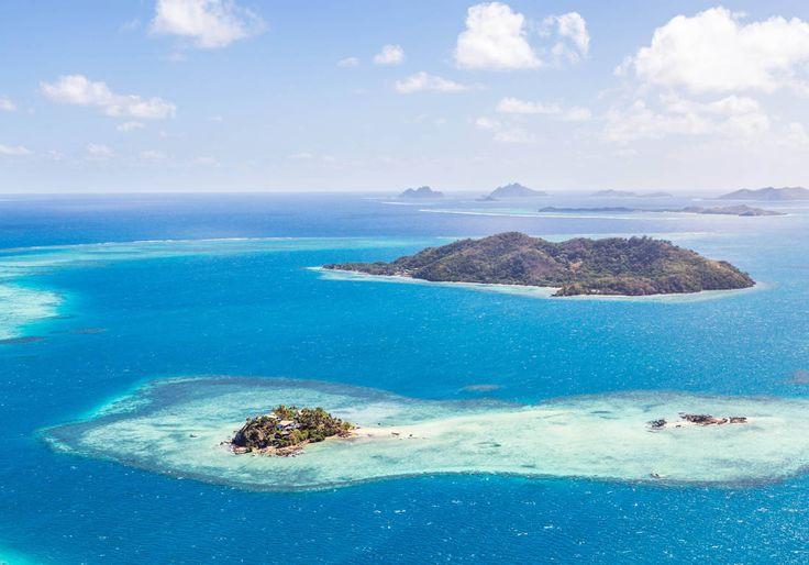 Les îles Fidji vues d'en haut.