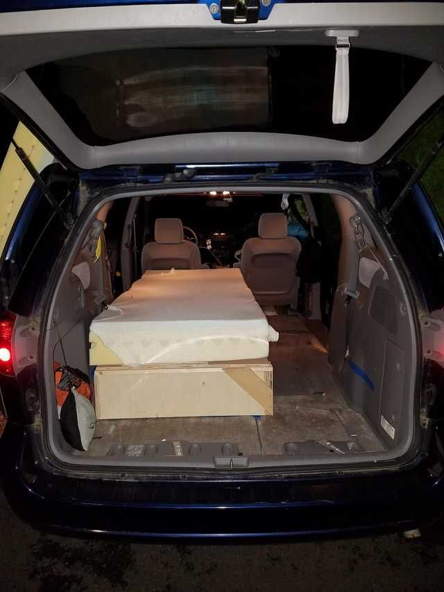 2006 Toyota Sienna Camper Van Sliding Bed Build Toyota Sienna Minivan Camper Conversion Camper Van
