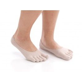Put your toes in their place! And with these comfy Gel Toe Socks, you really can. Individual toe pockets help prevent chafing and blisters and improve toe alignment, natural spread, and grip. Soft gel inserts cushion and soften heels. Low-cut style works with most shoes. Comfy at work and play or relaxing at home. Hand wash. One size fits most. 80% nylon, 15% spandex, 5% rubber.