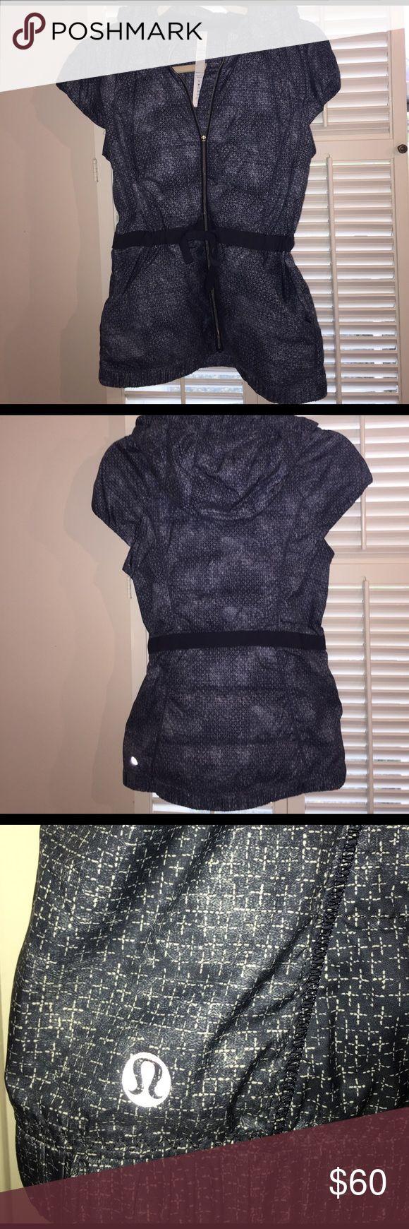 Lululemon vest with cap sleeve Adorable lululemon Athletica vest with capped sleeve and cinch tie waist. Detachable hood. Perfect condition. lululemon athletica Other