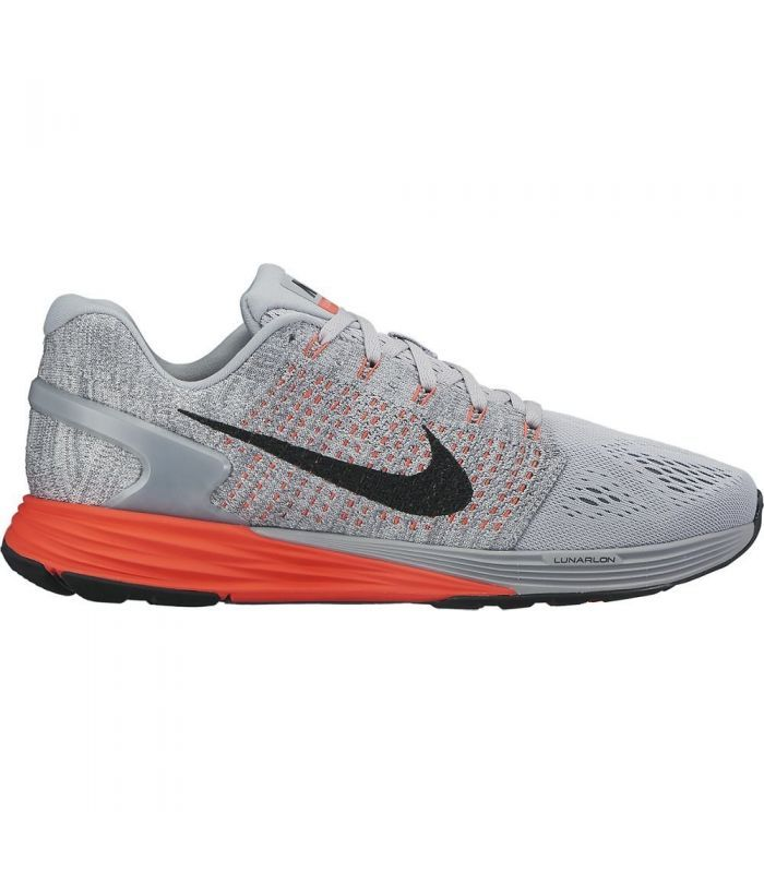 Nike Lunarglide 7 Grey Crimson Running Shoes