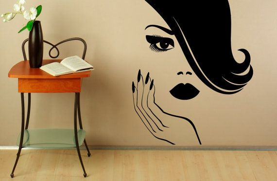 Manicure Wall Decal Vinyl Stickers Girl Hands Nails Interior Home Design Art Murals Spa Beauty Salon Decor  Welcome to Our shop!  Vinyl stickers is