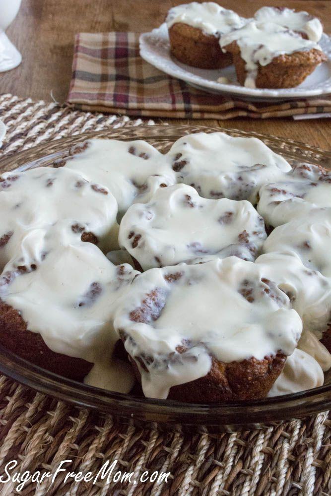 Cinnamon Roll Muffins (keto, low carb, sugar free, grain free) | Sugar Free Mom