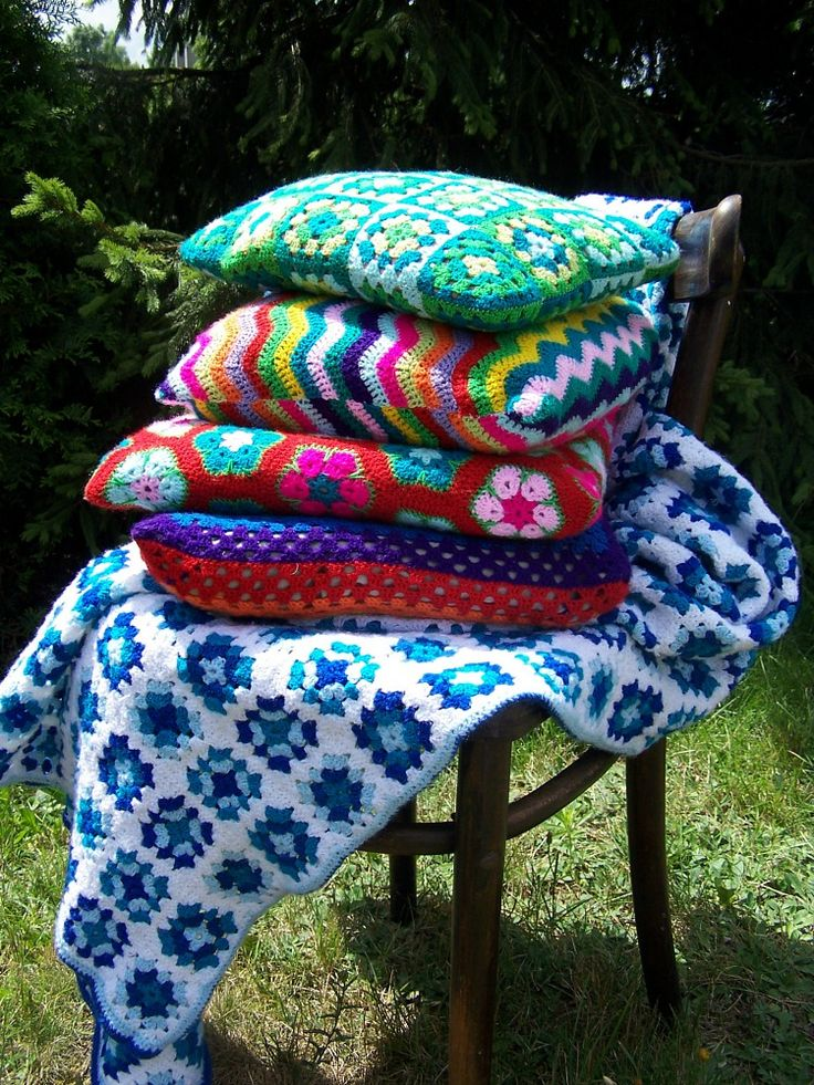 handmade crochet cushion cover cushion