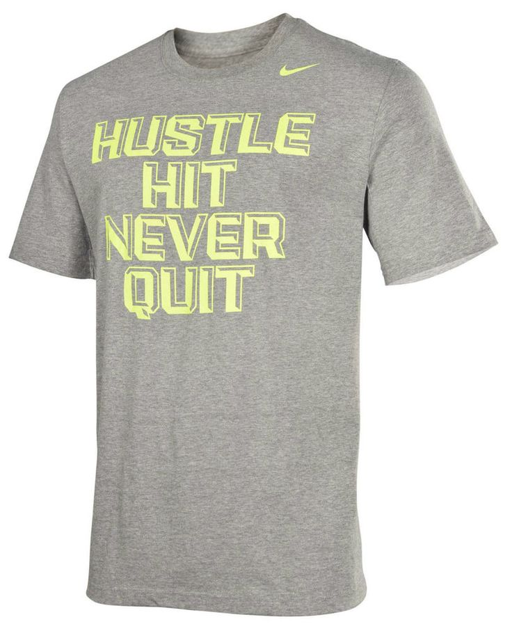 NEW MEN'S SIZE XL NIKE BASEBALL T-SHIRT GRAY FOOTBALL TEE MOTIVATIONAL  GRAPHIC #NIKE