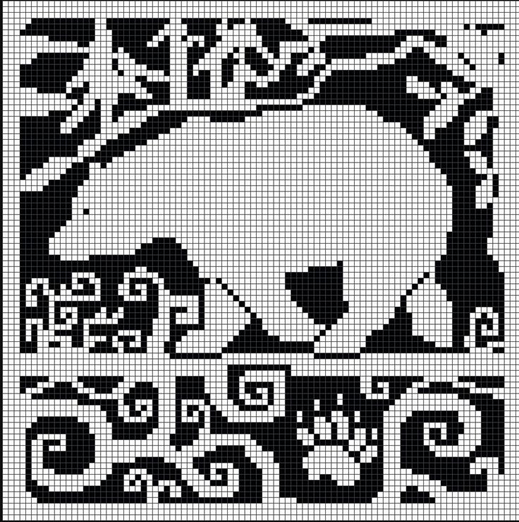 WitchWolfWeb Creations: Spirit Bear Chart ... links to download with black/white reversal included