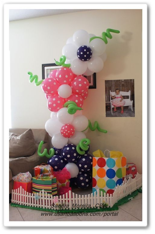 THEME BALLOON DECORATIONS | Garden Theme Decor : US Art Balloons. This would be so cute for a little girls Birthday party!