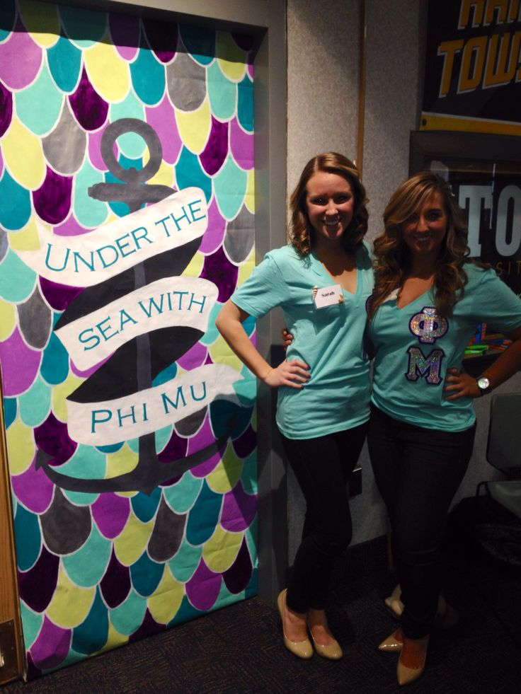 """Under The Sea With Phi Mu"" Phi Mu Recruitment"
