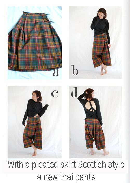 by sophie b. l'éco-design à la française: Fall winter 10 / 11 - An upcycled kilt