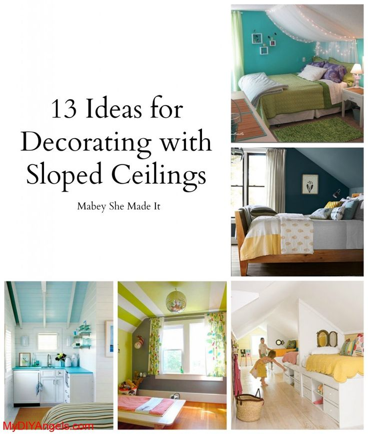 13 Ideas For Decorating With A Sloped Ceiling