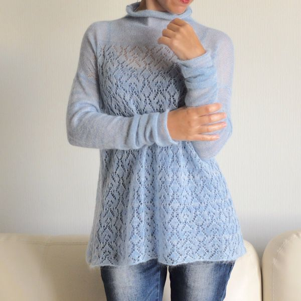 ажурные пуловеры из мохера спицами: 25 тыс изображений найдено в Яндекс.Картинках