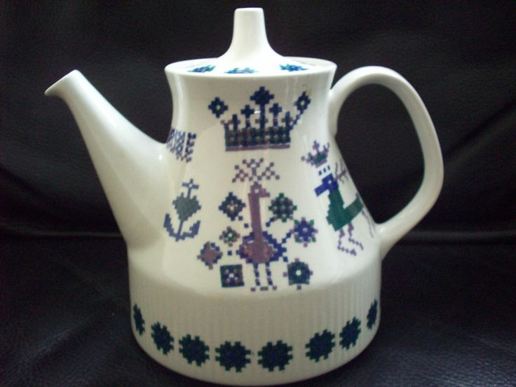 Scandinavian design Figgjo Flint Teekanne Kaffeekanne tea pot Menü FF Norway RAR