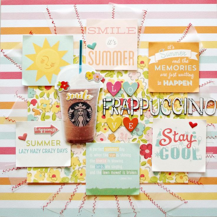 Seungeun Lee's craft room: scrapbooking'Love Frappuccino'