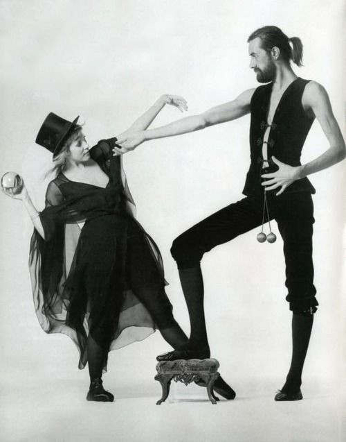 Stevie Nicks and Mick Fleetwood for the cover of the Rumours Album (1977) photographs by Herbert Worthington