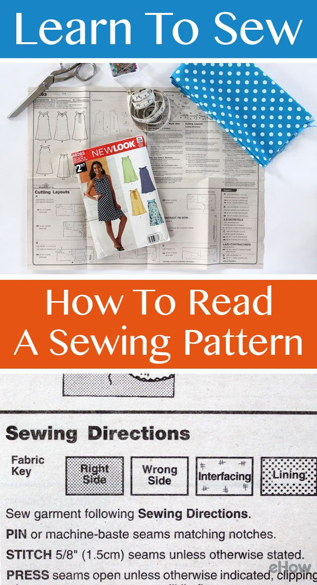 Learning to sew starts with the basics! Read a sewing pattern so you can make…