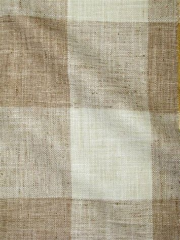 "Check Please Harvest - The look & feel of heavy hand loomed linen from P. Kaufmann Decorator fabric. Perfect for any upholstery, bedding or window treatment project. Durable 51,000 double rubs. 100% poly. Repeat; V9"" x H 9"". 54"" wide"