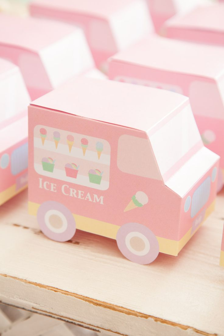 Ice Cream Party / Favour Ice Cream Truck Boxes - OTHER - Jo Studio - Party Printables and Custom Invitations