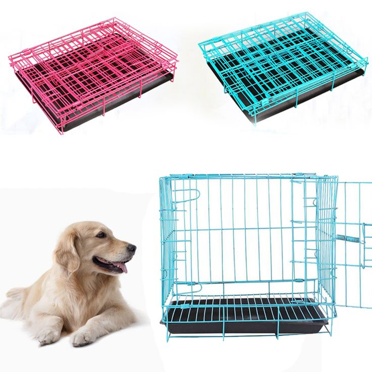 Foldable Cat Pet Cage Iron Wire Suitcase Safe House Home Universal High Quality