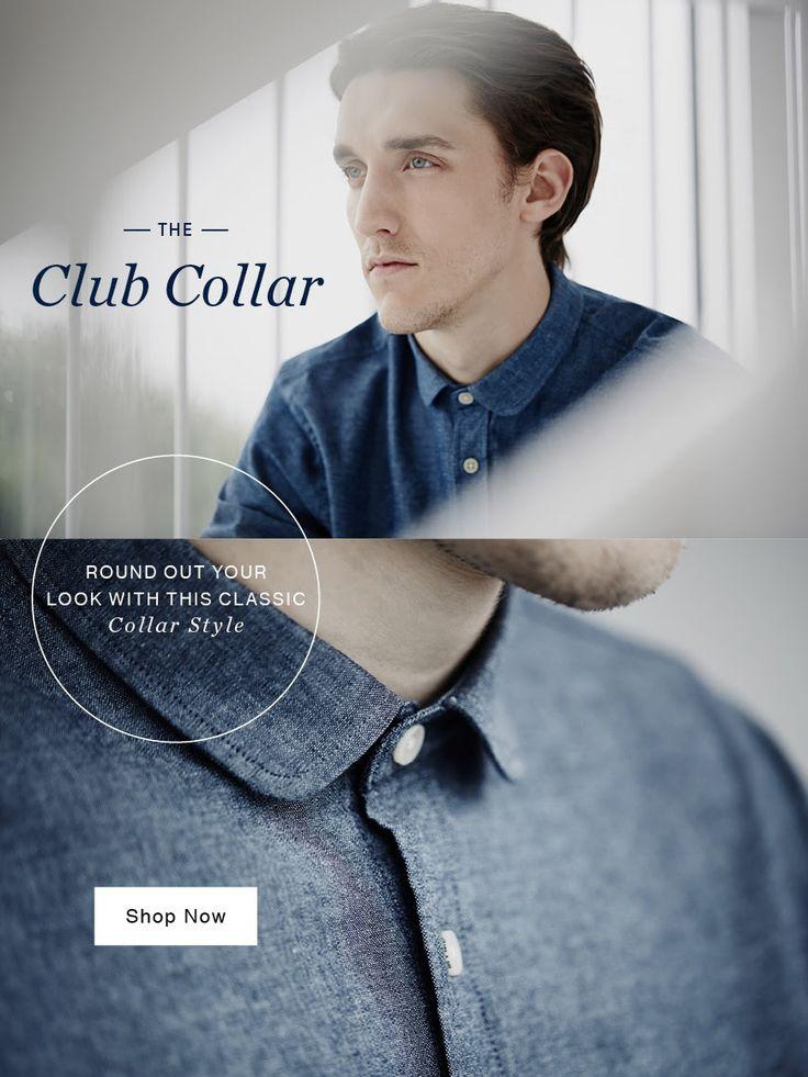 10 Best Club Collar Shirt Images On Pinterest