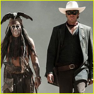 The only upside of this was that his performance was entirely consistent with the rest of the movie. If Depp was Jack Sparrow with a dead bird on his head, Armie Hammer's Lone Ranger was channeling Brendan Fraser as George of the Jungle. And that's pretty much all you need to know about the movie: Captain Jack in face paint yucking it up with a masked George of the Jungle.