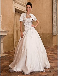 Wedding Dress Ball Gown Floor Length Taffeta Satin Strapless... – EUR € 127.26